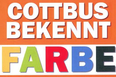 Cottbus bekennt auch im Jahr 2015 Farbe