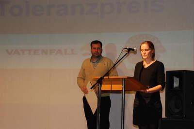 Rede für den 2. Platz von Golde Grunske und Tobias Schick