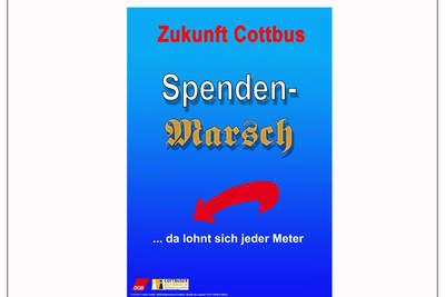"""""""Spendenmarsch ... da lohnt sich jeder Meter"""" - Gemeinsame Pressekonferenz mit dem DGB-Stadtverband Cottbus"""
