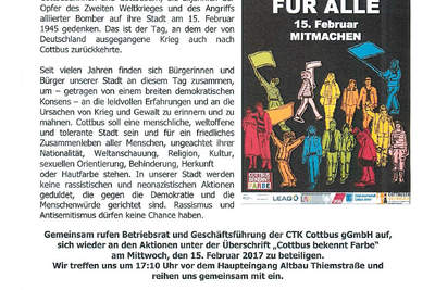 Carl-Thiem-Klinikum bekennt Farbe