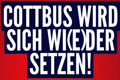 Cottbus ist bunt! Danke Cottbus!