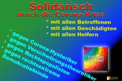 "Initiative ""Solidarisch durch die Corona-Krise"""
