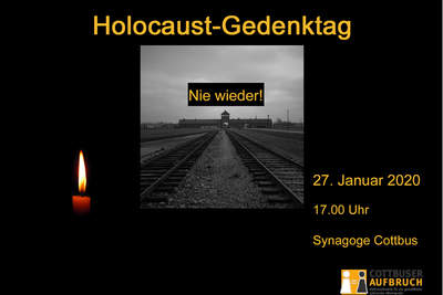 Holocaust-Gedenktag - 27. Januar 2020 in Cottbus