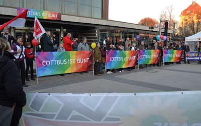 Cottbus ist Bunt am 15. Februar 2019