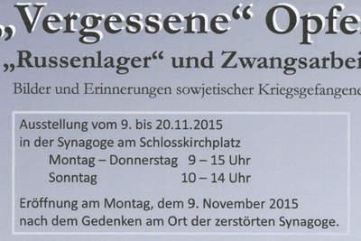"""""""Vergessene"""" Opfer: """"Russenlager"""" und Zwangsarbeit"""